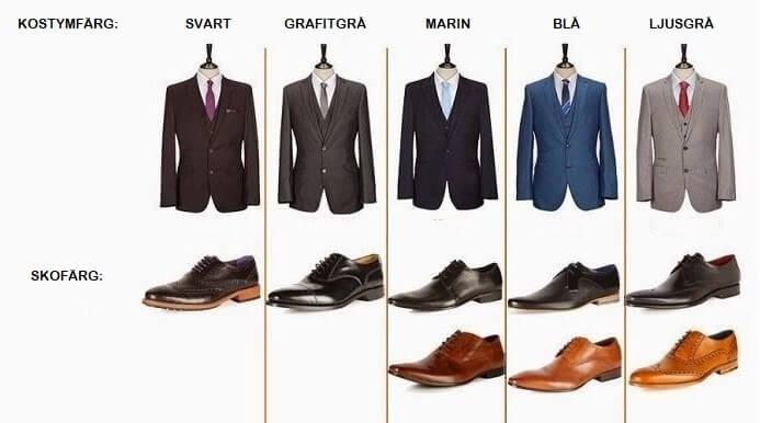 skor till svart kostym